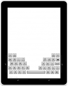 iPad thumb keyboard concept - QWERTY